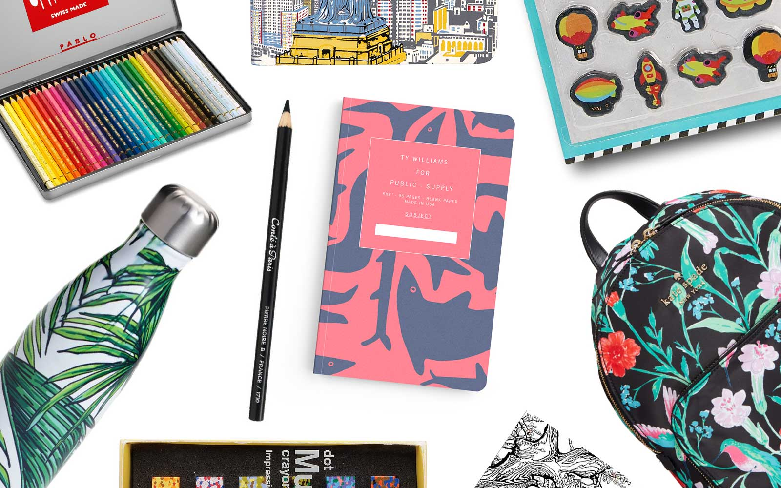 Cute School Supplies Inspired by Travel