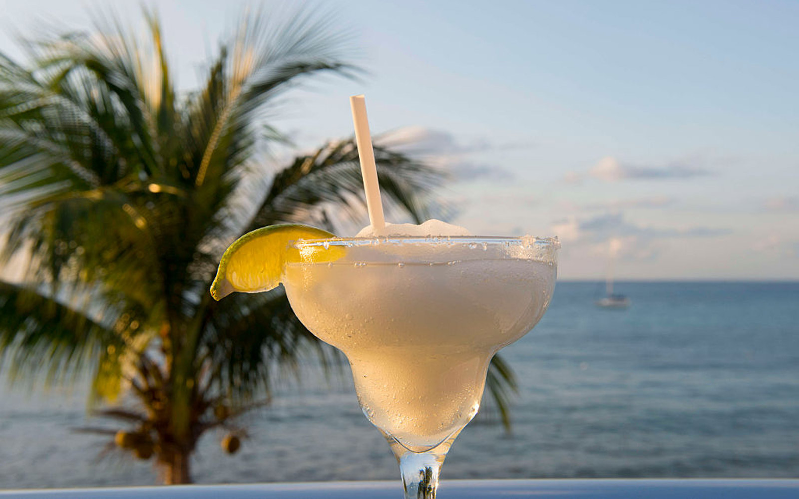 MEXICO - 2016/01/08: A margarita drink in Playa del Carmen on the east coast of the Yucat·n Peninsula on the Caribbean Sea in the state of Quintana Roo, Mexico. (Photo by Wolfgang Kaehler/LightRocket via Getty Images)