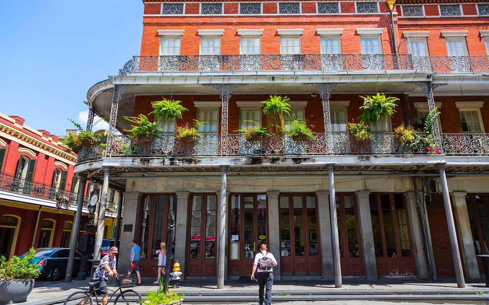 French Quarter, New Orleans, and its French Colonial architecture