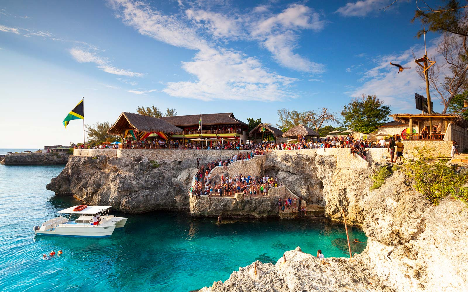 Rick's Cafe Drink Bar Restaurant Cliff Diving Negril Jamaica Caribbean