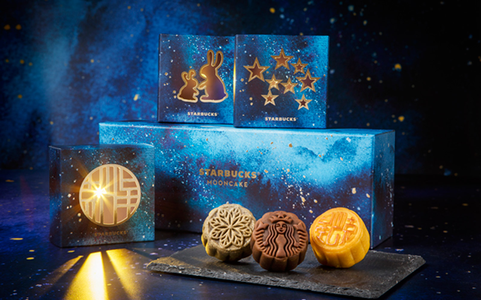 Starbucks' Mooncakes Come in Glowing Lantern Boxes