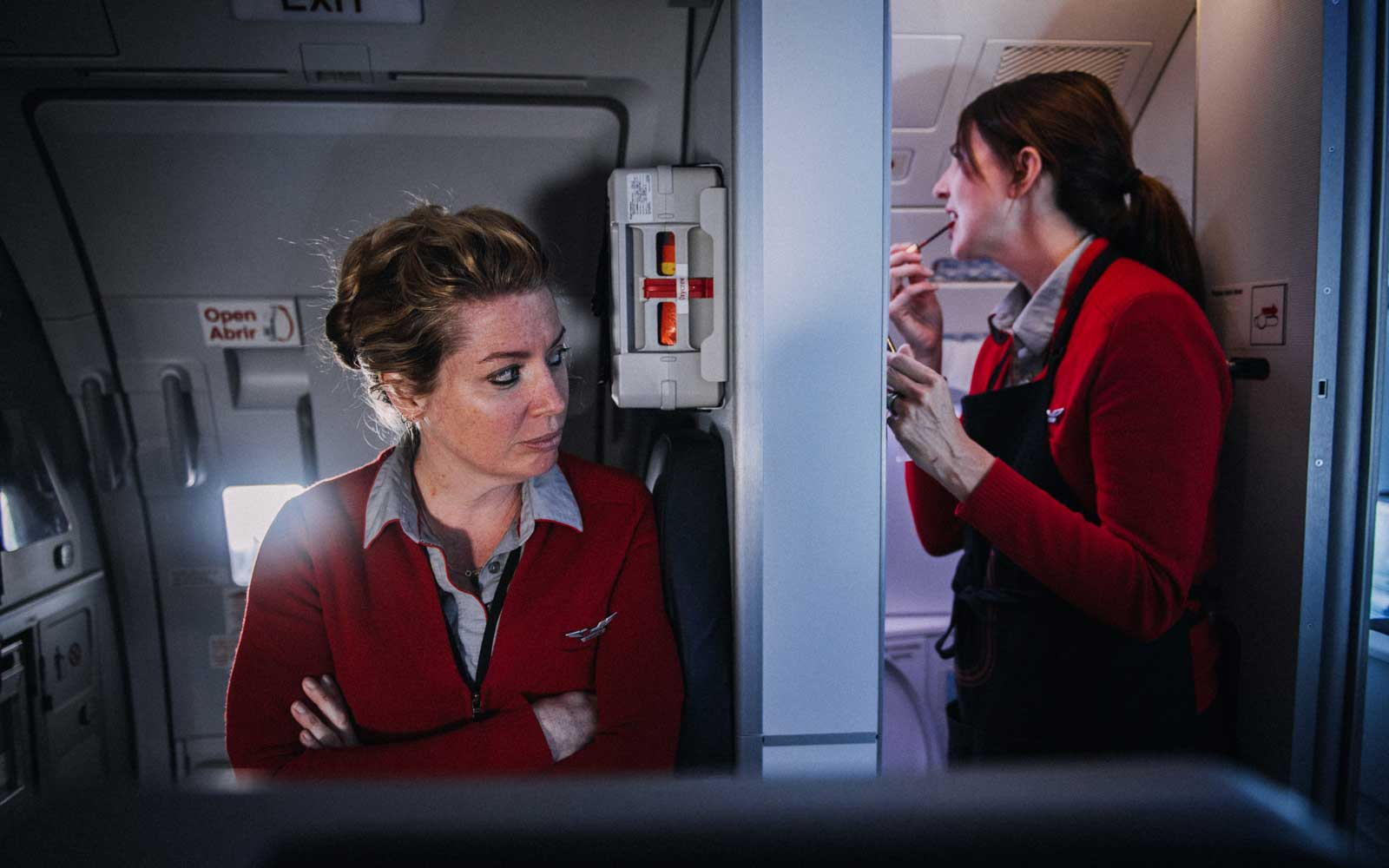 virgin airlines flight attendant sweater