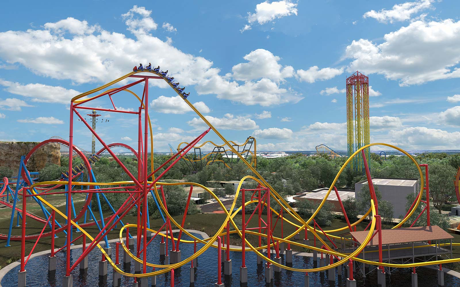 Six Flags to open Wonder Woman ride, world's 1st single-rail roller coaster