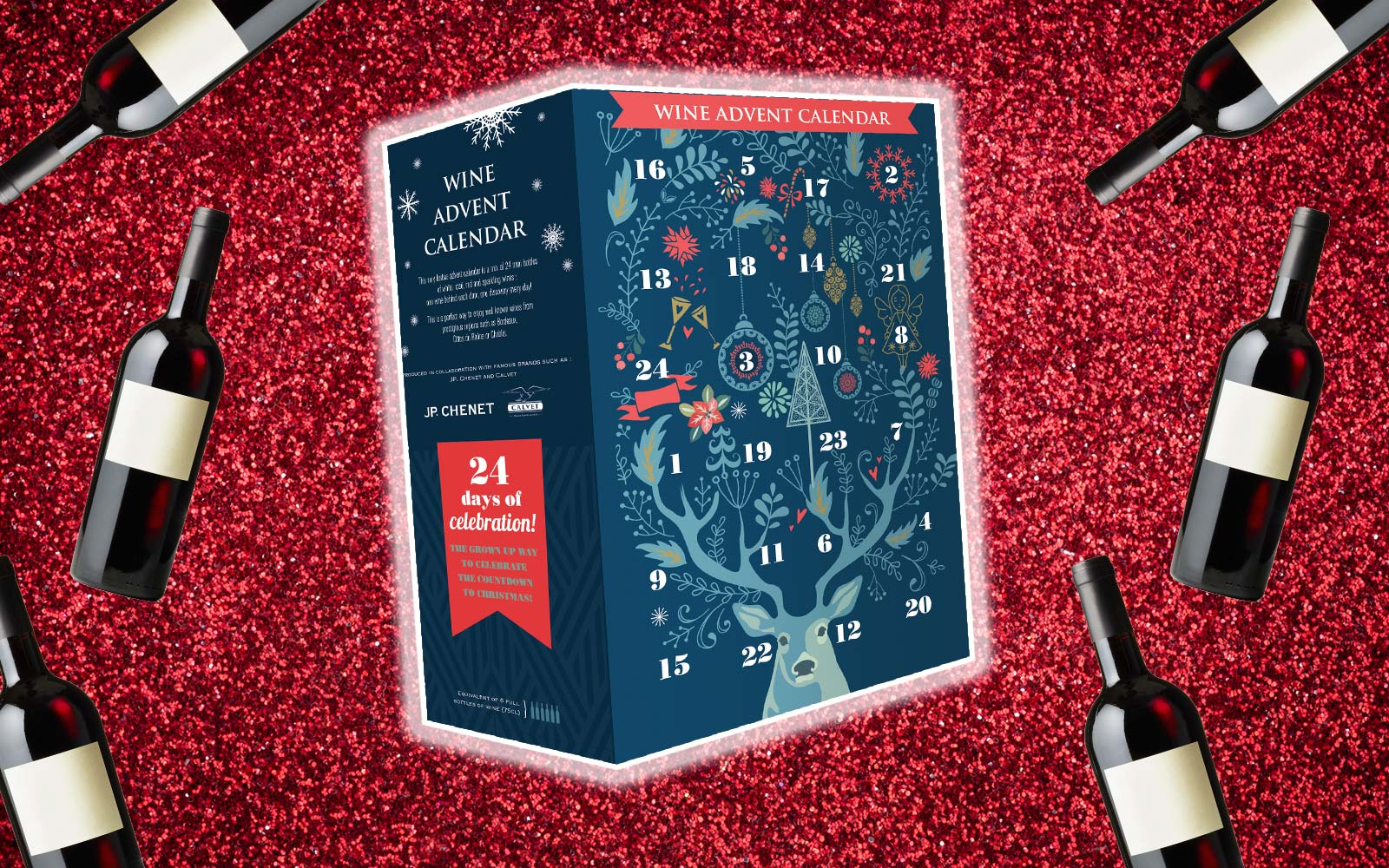 Aldi's Wine Advent Calendar Contains 24 Mini Bottles of Wine