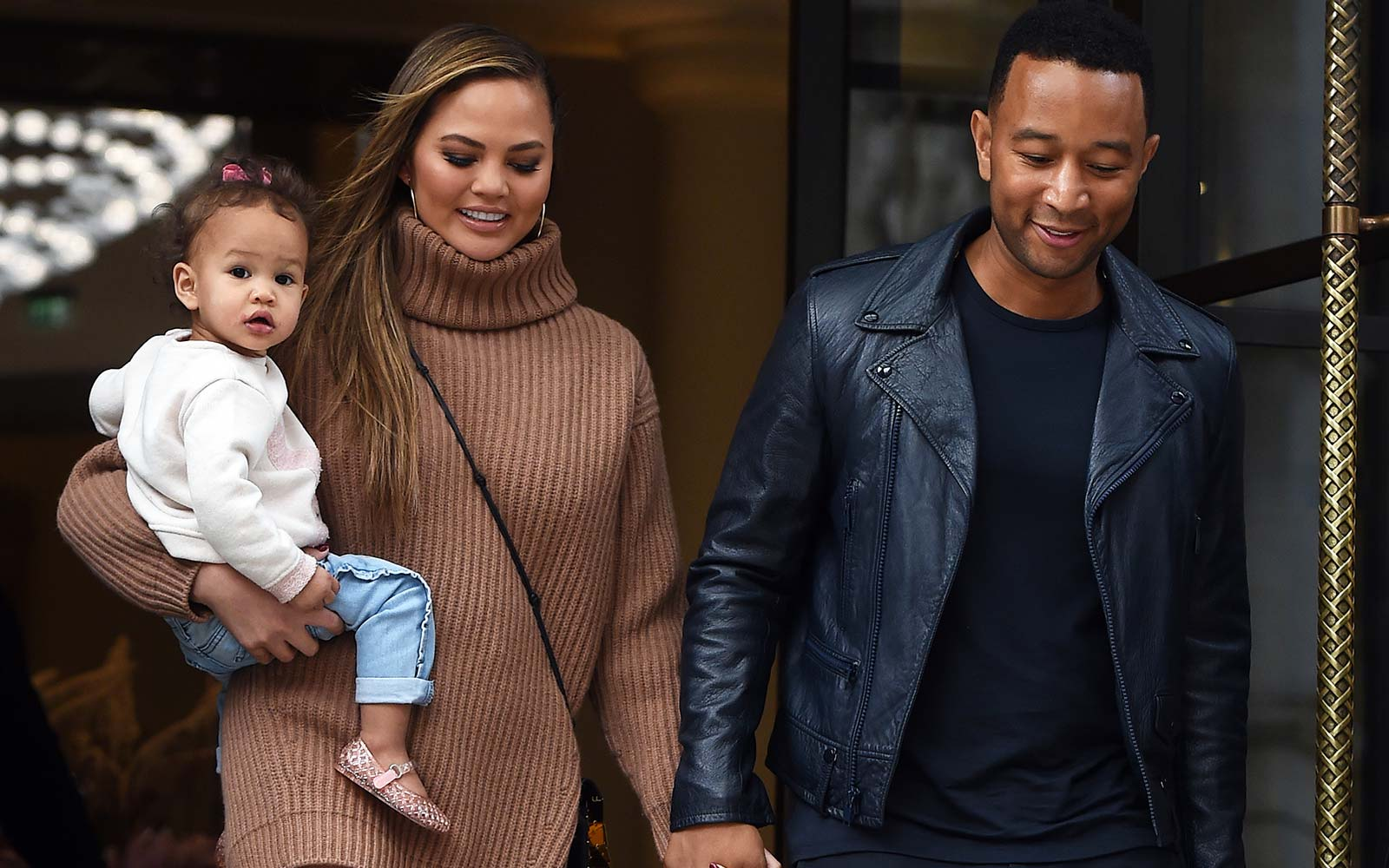 Chrissy Teigen, John Legend, and Baby Luna are in London for Legend's World Tour