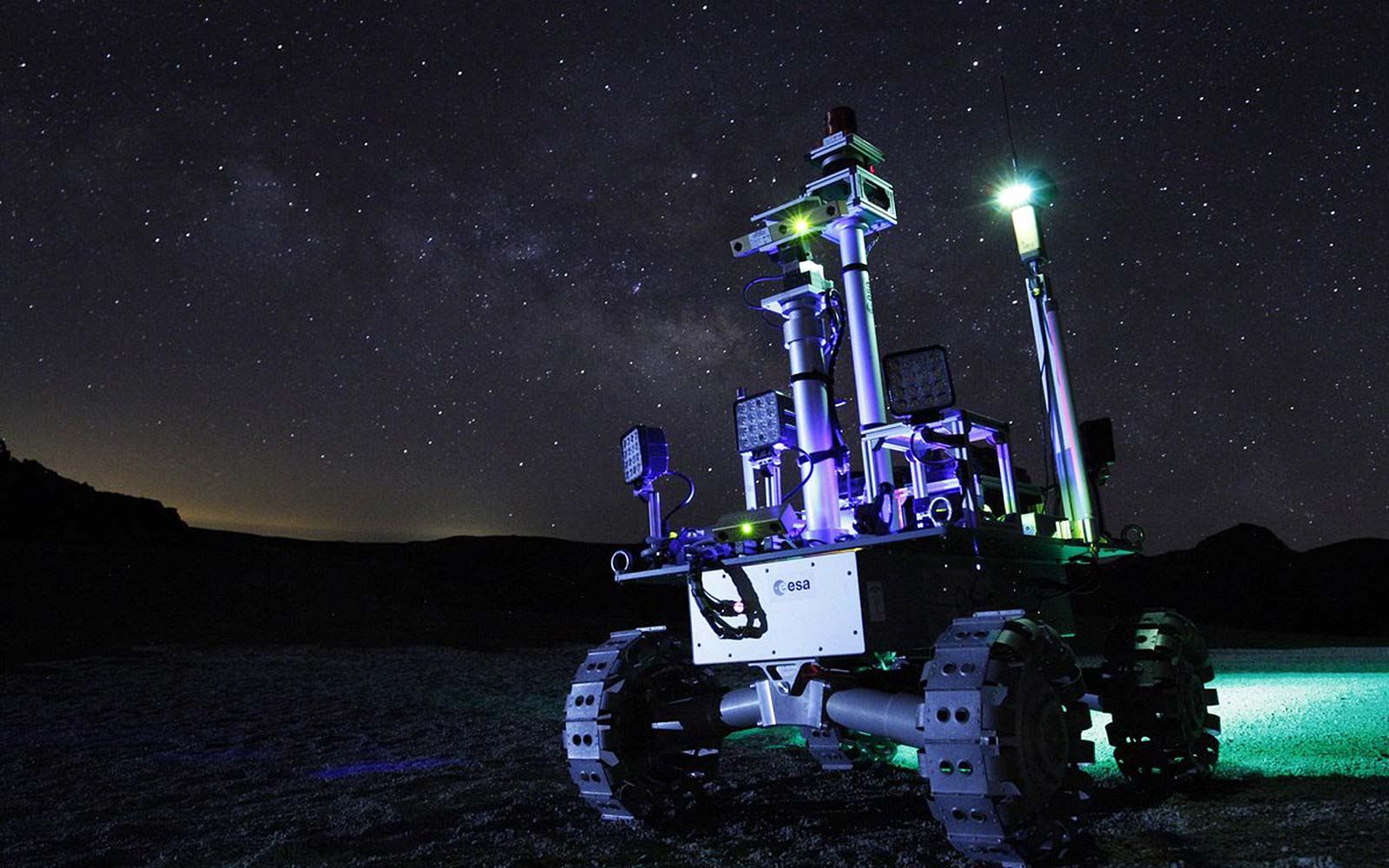 ESA Moon Rover Research Night Tenerife Spain European Space Agency