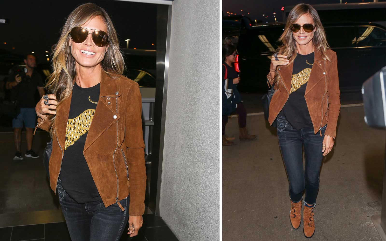 Heidi Klum's Layered Travel Outfit Is Perfect for Fall