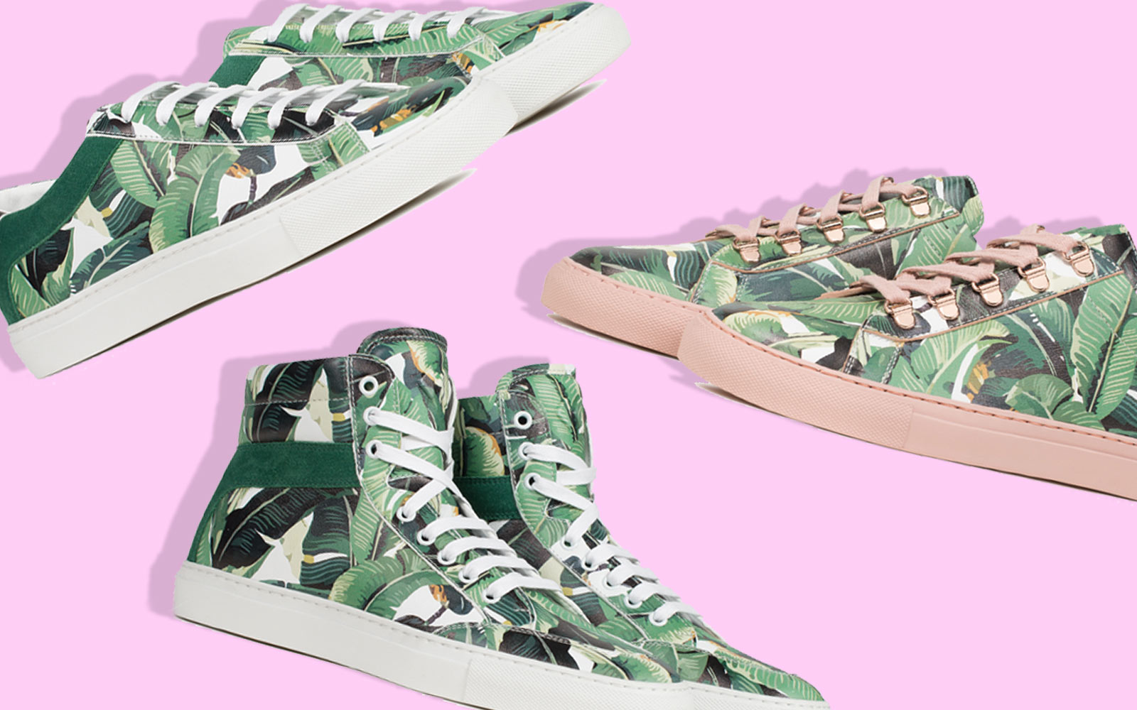 The Beverly Hills Hotel's Iconic Banana-leaf Wallpaper Is Now a Sneaker