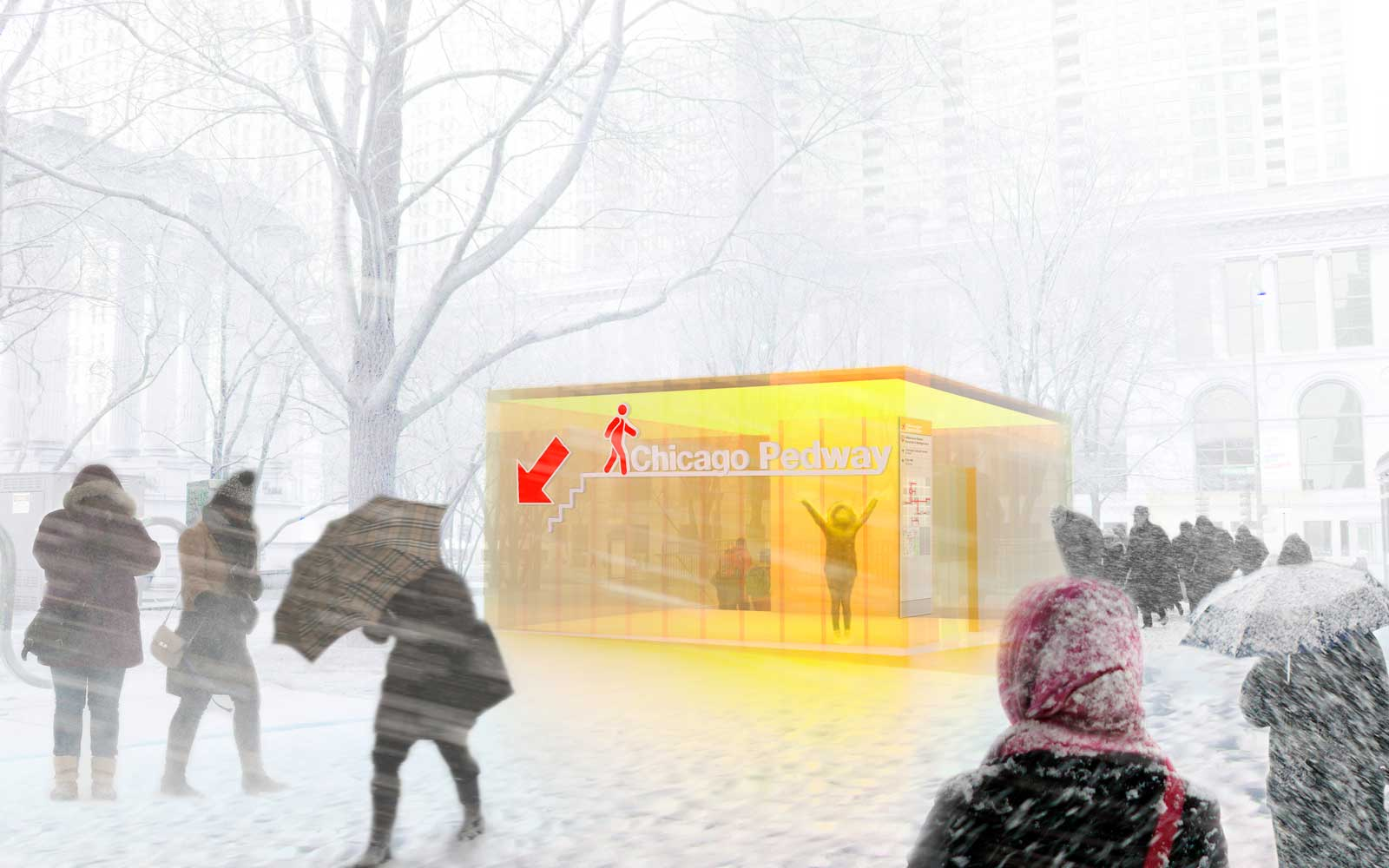 Proposed Millennium Park Entrance to the Chicago Pedway
