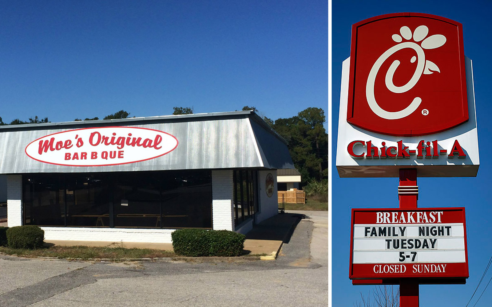 These Two Restaurants in Alabama Are Having the Funniest Sign Feud