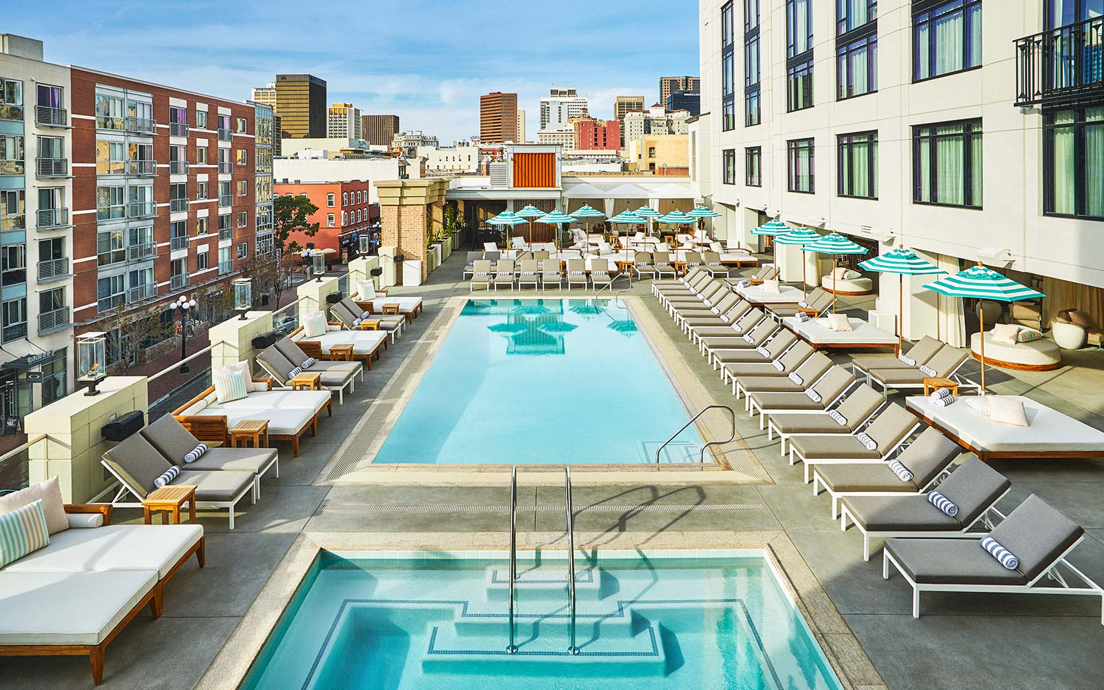 Pendry San Diego Hotel rooftop pool house restaurant lounge