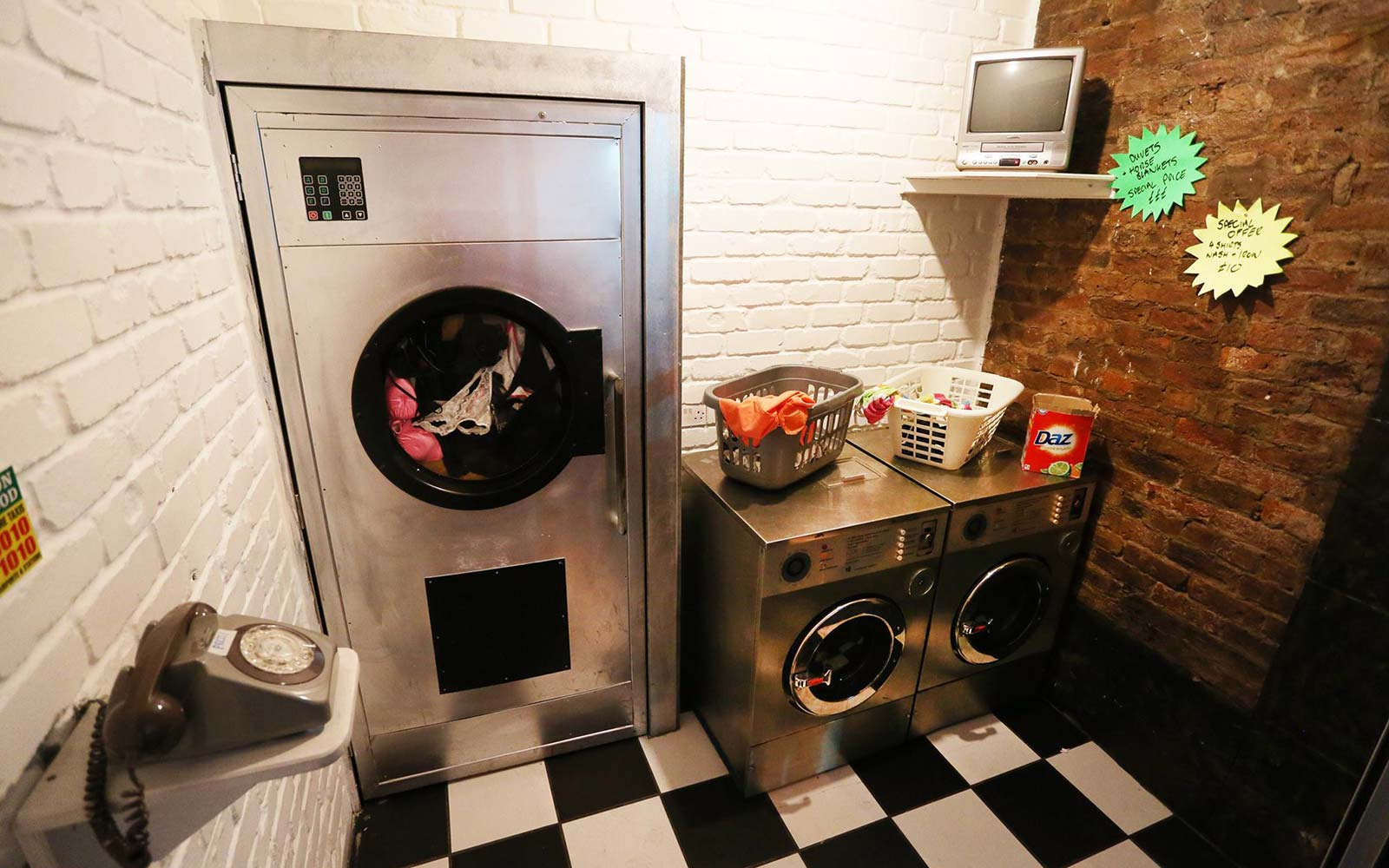 This Laundromat Is Actually a Secret Cocktail Bar