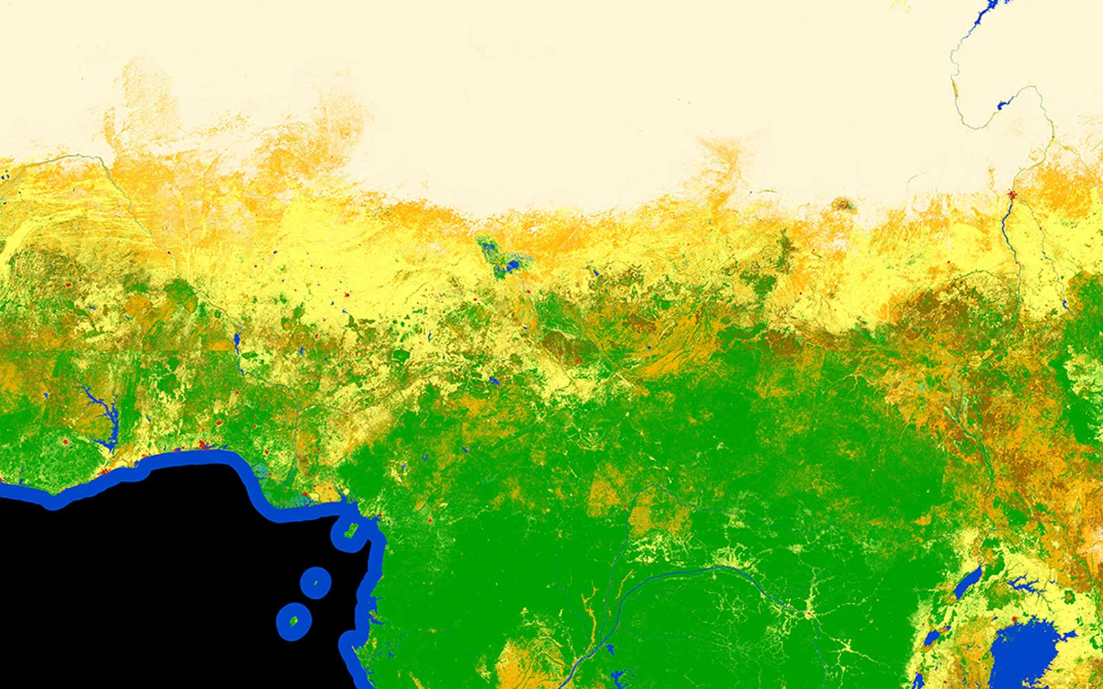 This Is the First High-resolution Land Cover Map of All of Africa