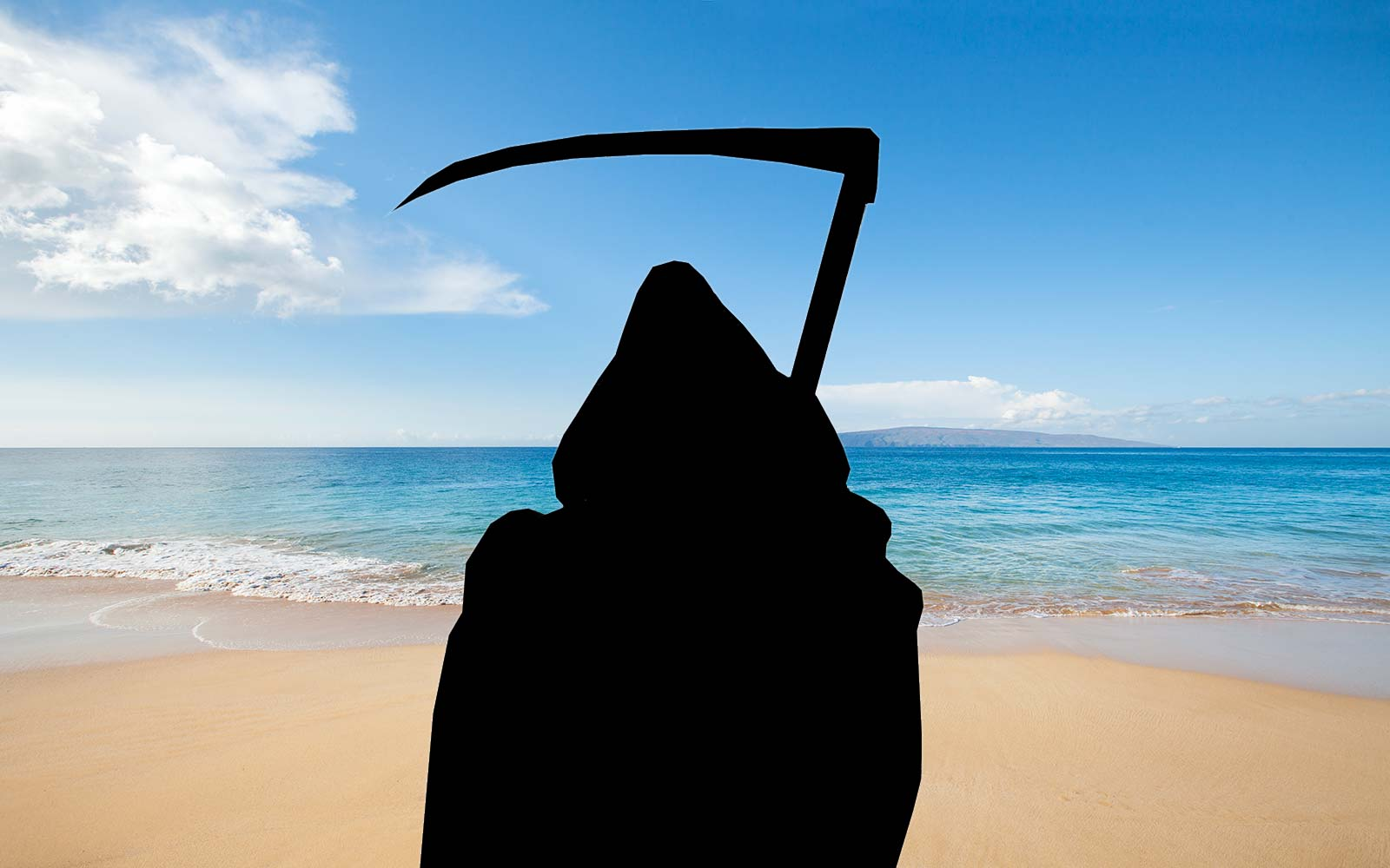 grim reaper vacation beach travel instagram swim