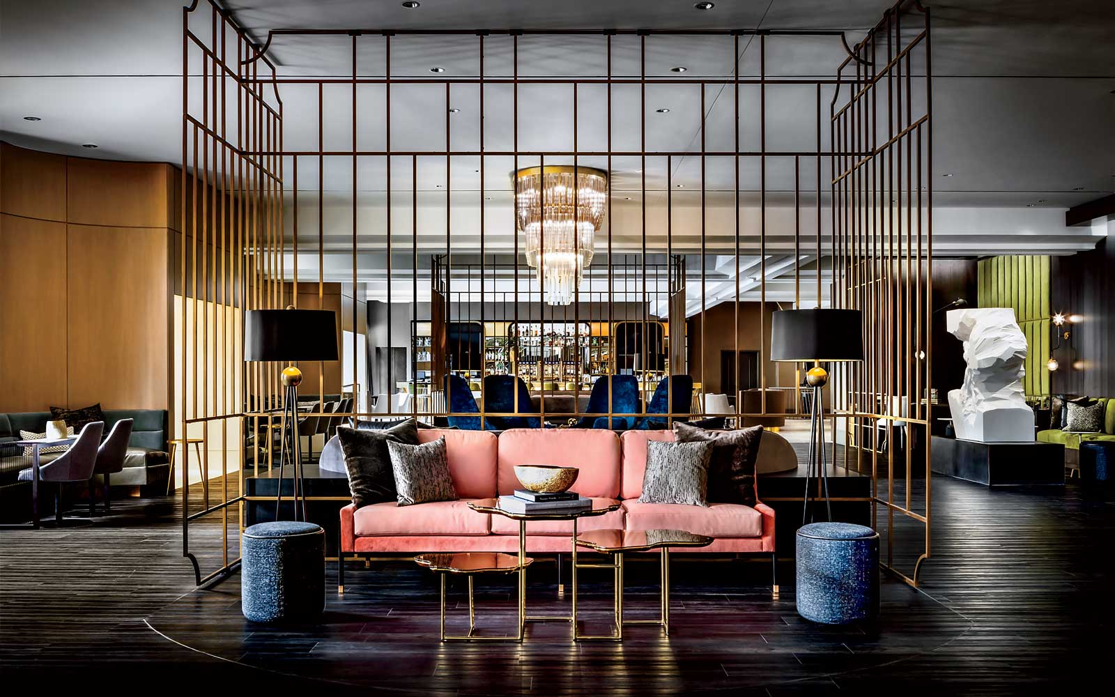 The lobby at The Gwen Hotel, in Chicago.