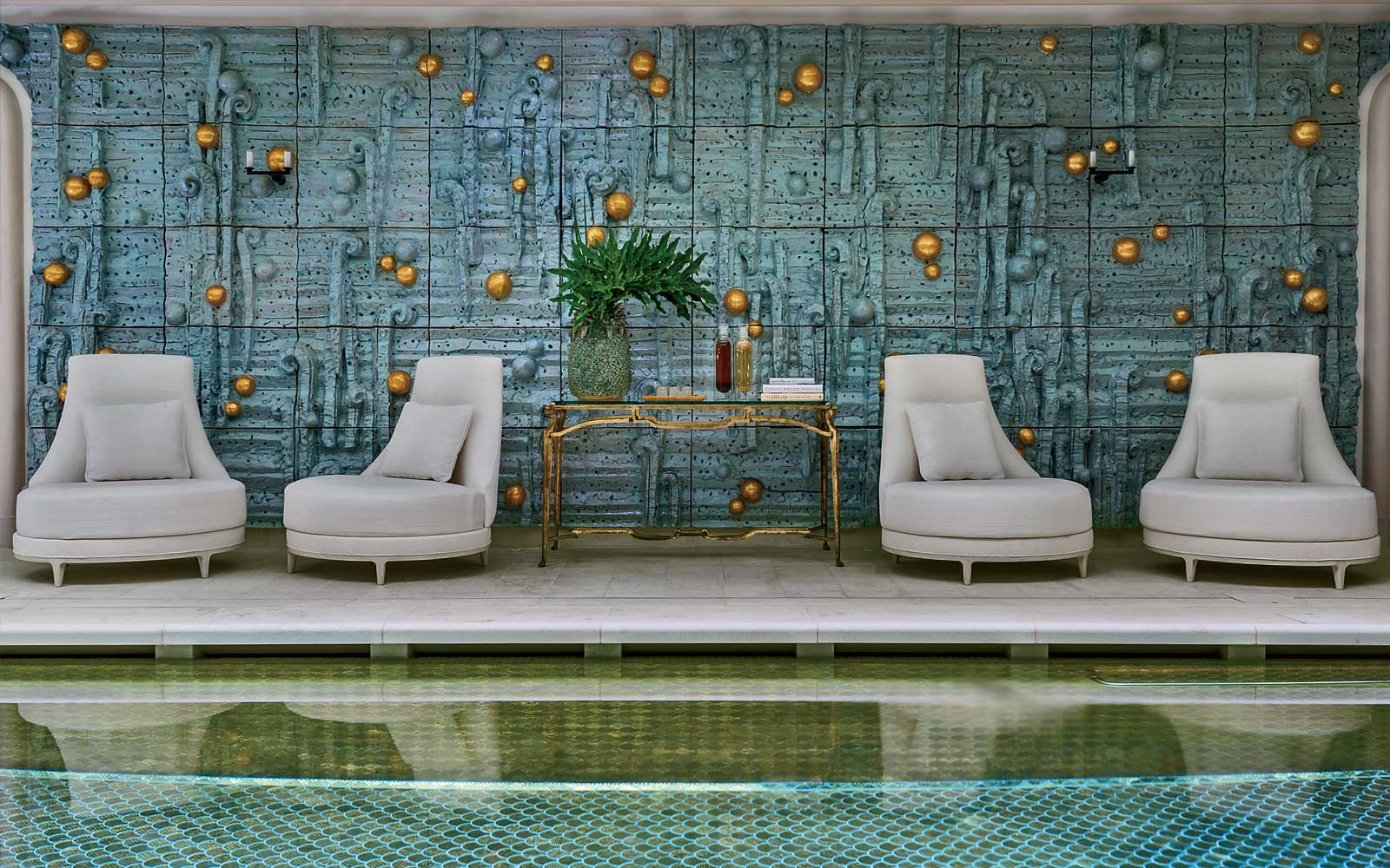 Pool at the Rosewood Hotel de Crillon in Paris, France