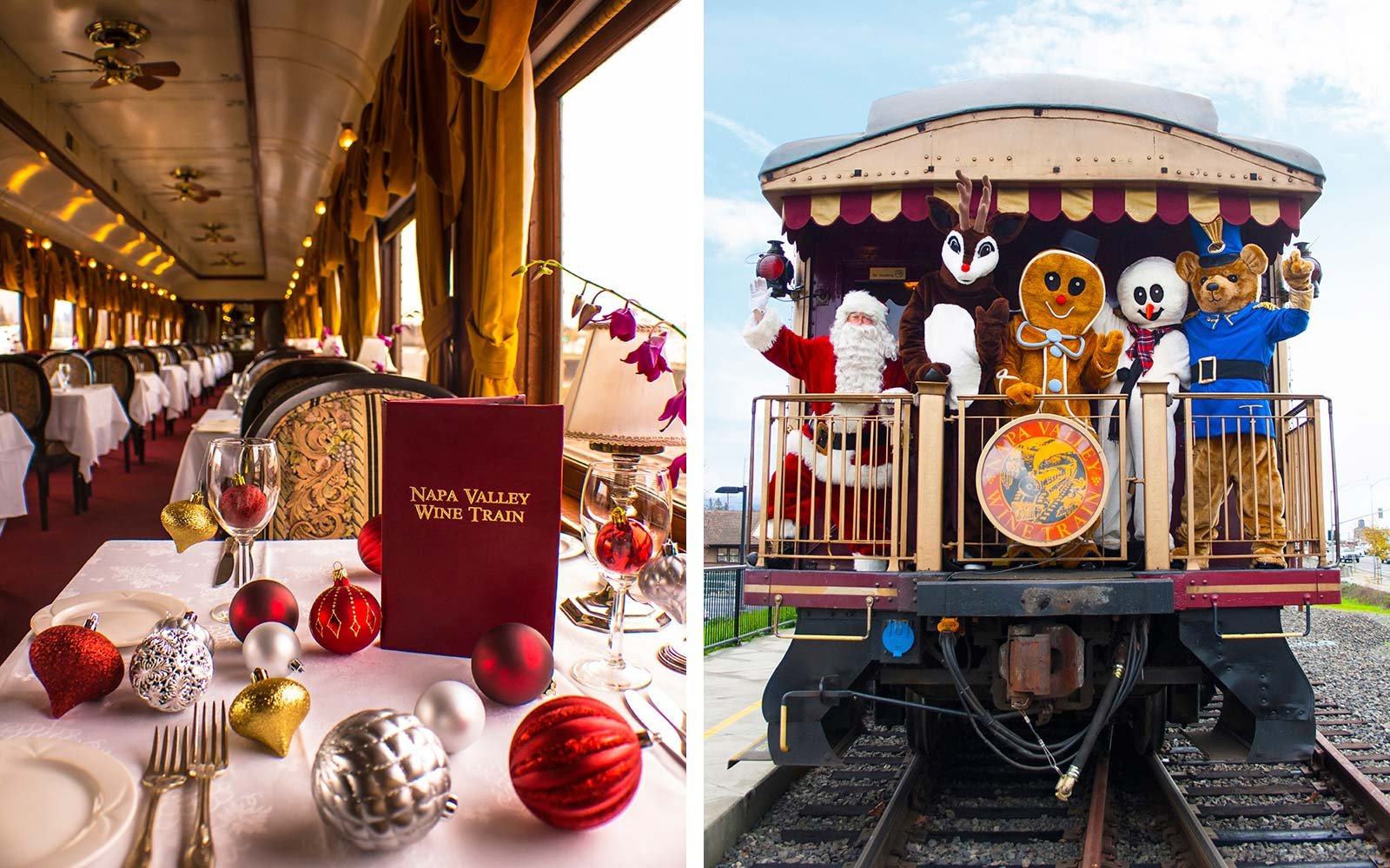 napa valley santa wine train holiday ride christmas california