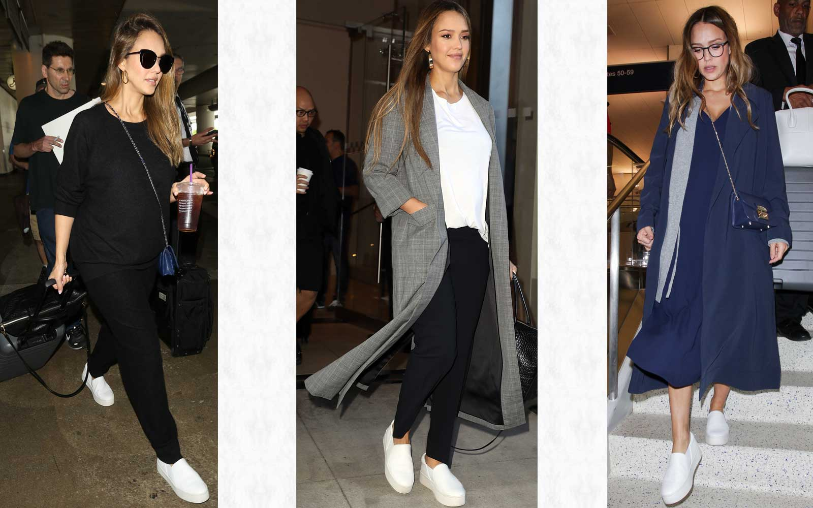 Jessica Alba Can't Stop Wearing These Slip-on Shoes to the Airport