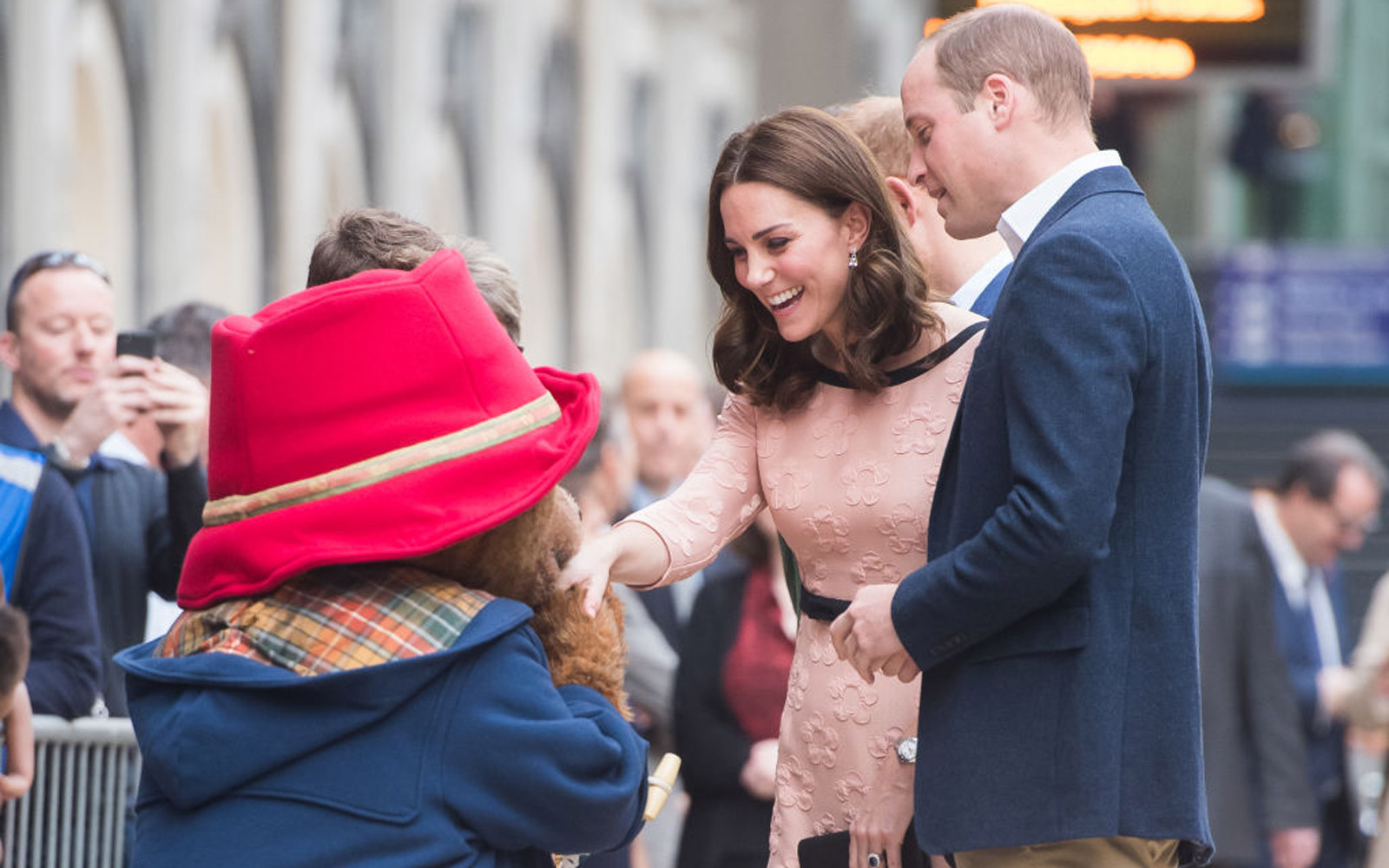 Catherine, Duchess of Cambridge and Prince William, Duke of Cambridge meet Paddington Bear