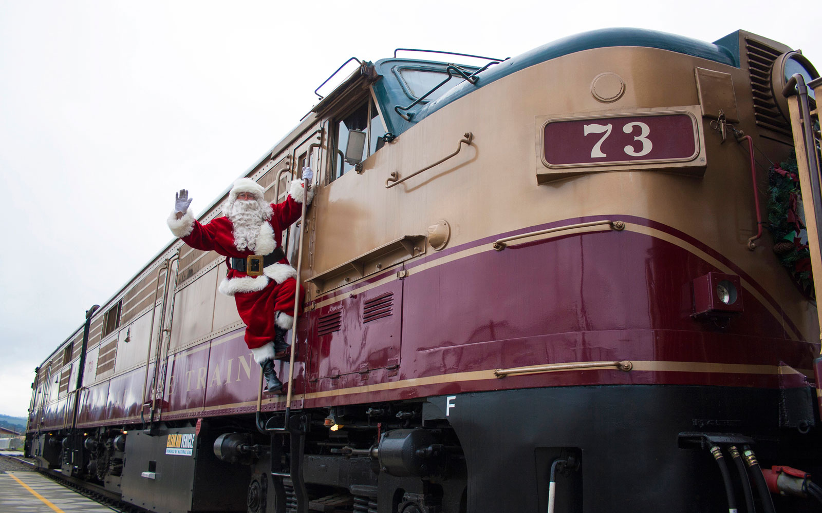 Napa Valley's Santa Train Combines Wine With Festive Holiday Cheer