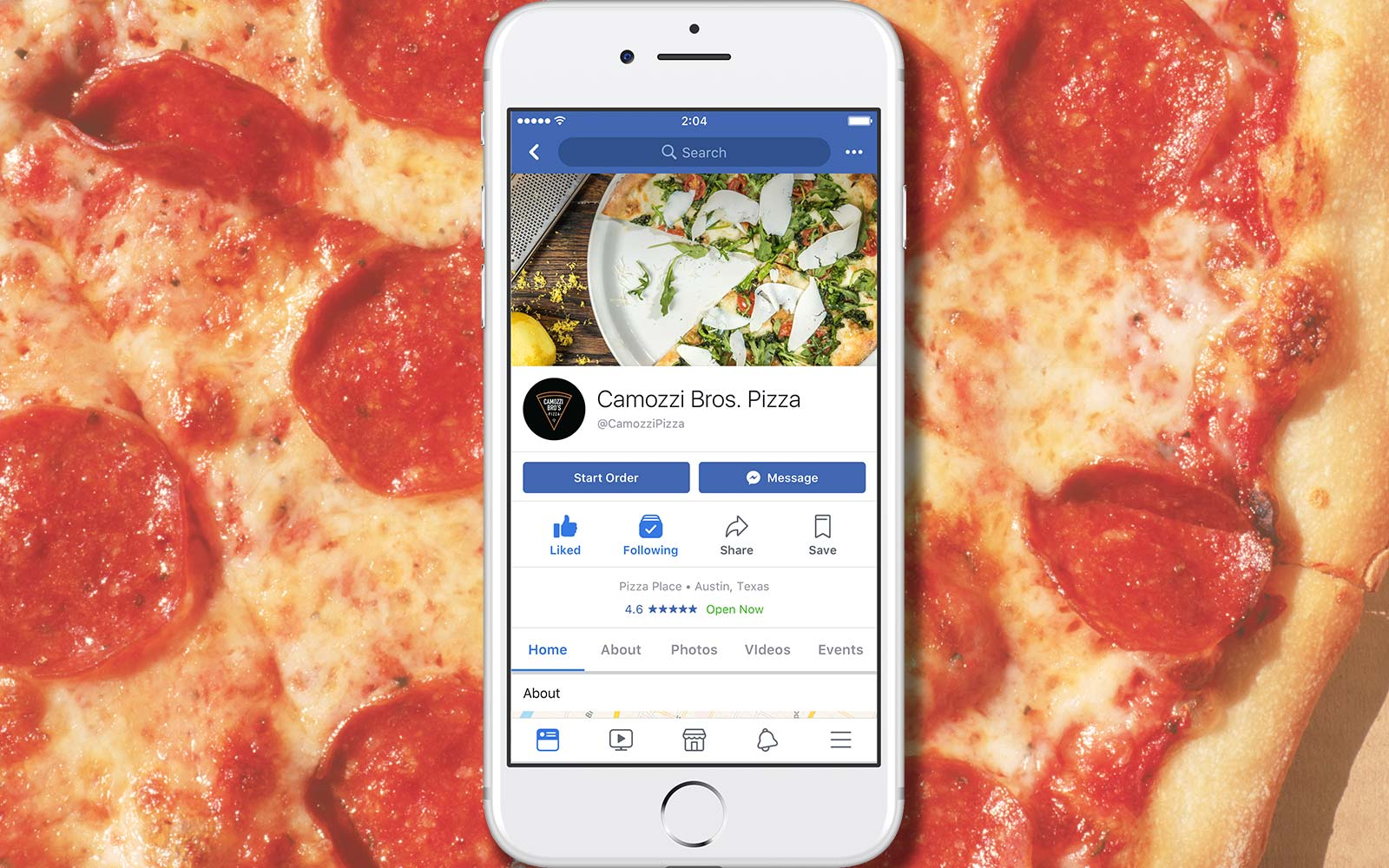 You Can Now Order Food With the Facebook App