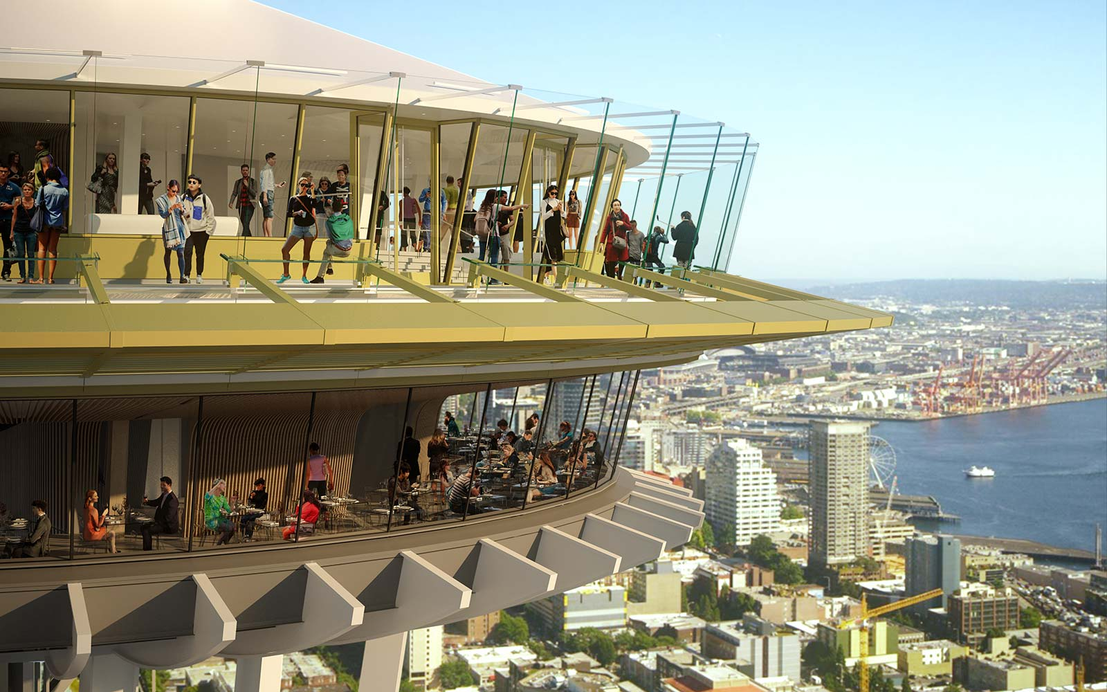 Seattle's Space Needle Is Getting a Glass-bottomed Dining Room With Dizzying Skyline Views