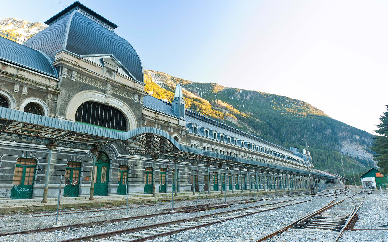 This Abandoned Rail Station in the Pyrenees Is Being Returned to Its Palace-like Glory