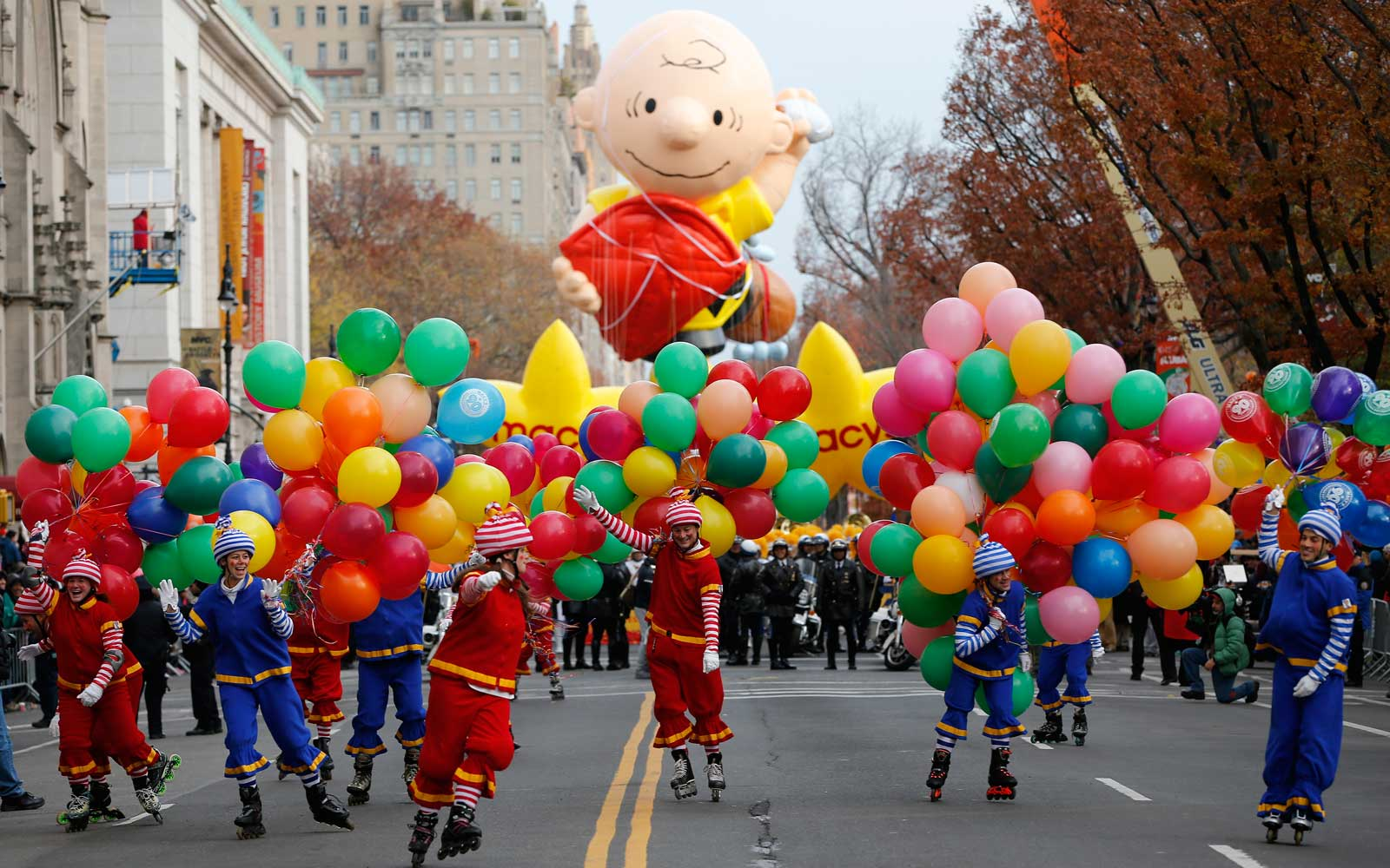 Peanut Balloon in the Macys Thanksgiving Parade New york