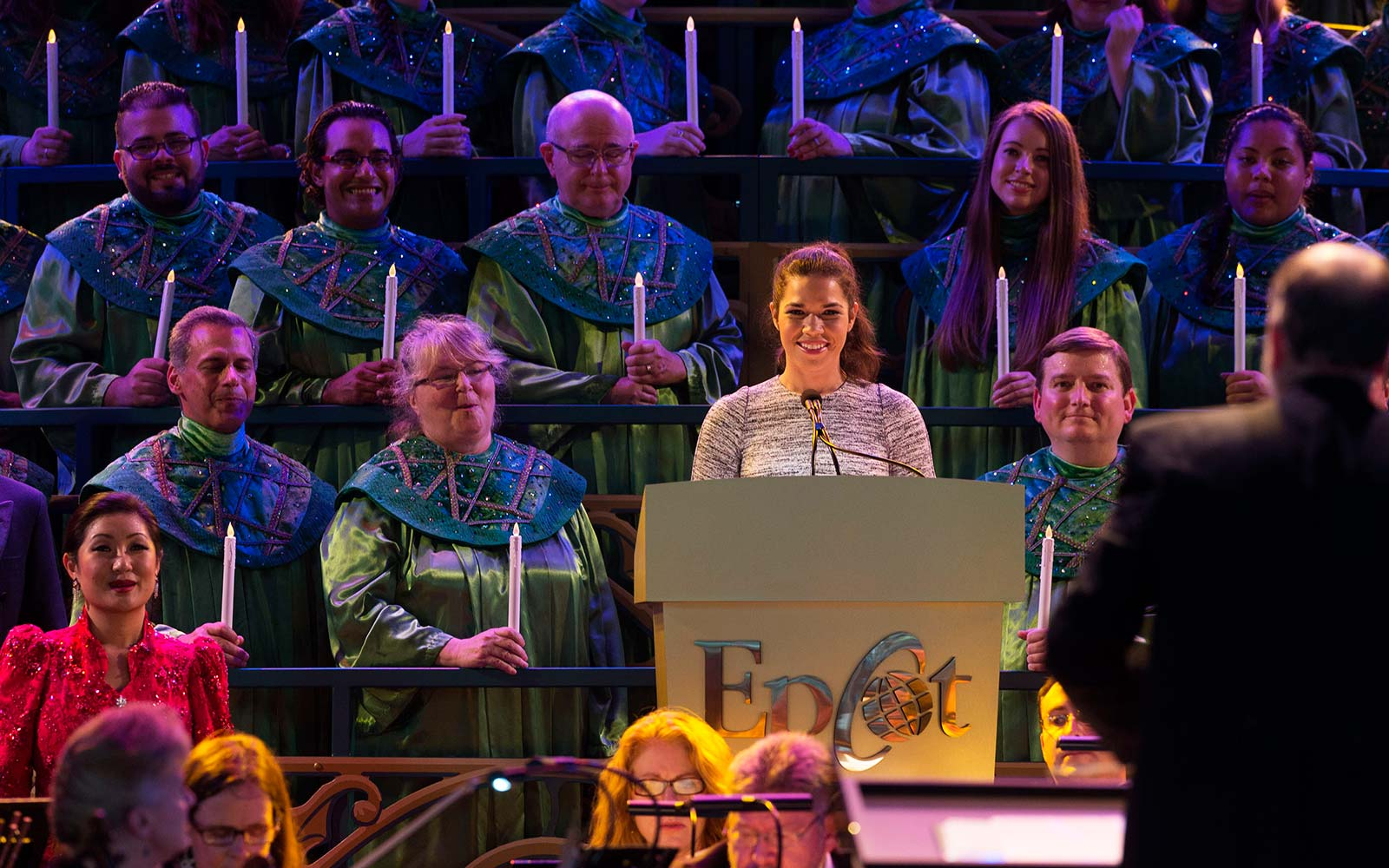 America Ferrera Disney Candlelight Processional Christmas Holiday