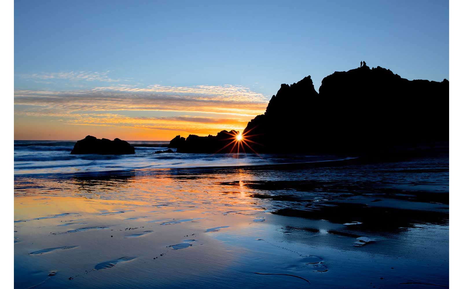 Sunset at Big Sur, California