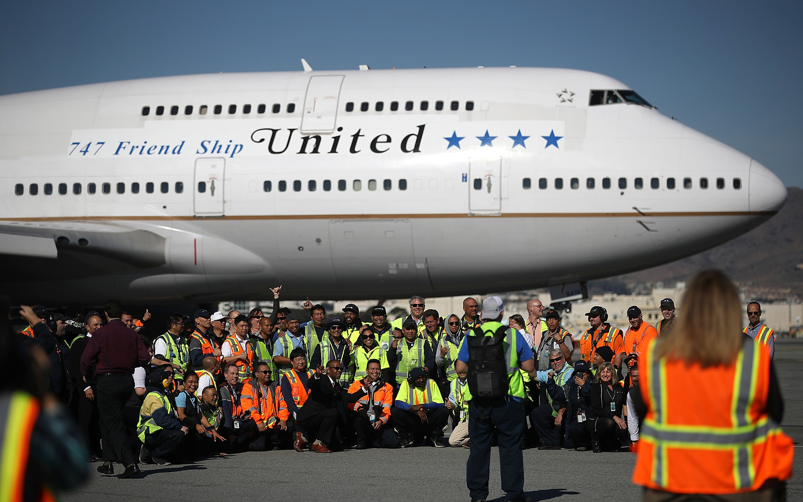 United said farewell to the Queen of the Skies, the Boeing 747, in a last flight from San Francisco to Honolulu, on Nov. 7, 2017.