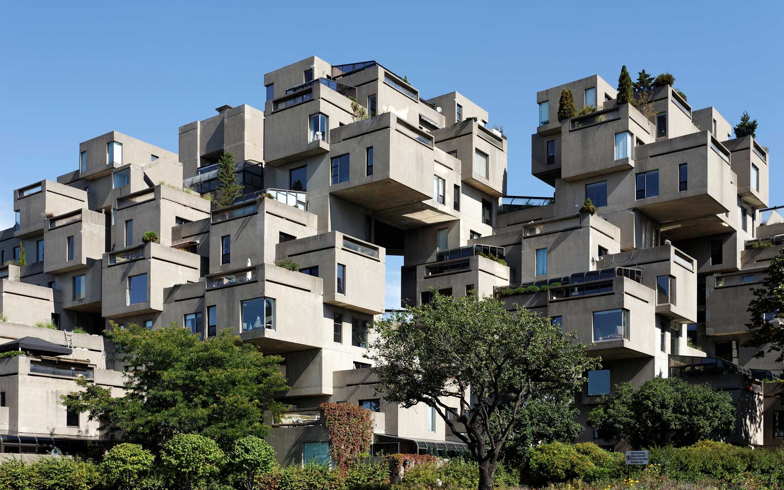 Habitat 67, the landmark housing complex originally built for the 1967 Montreal World's Fair