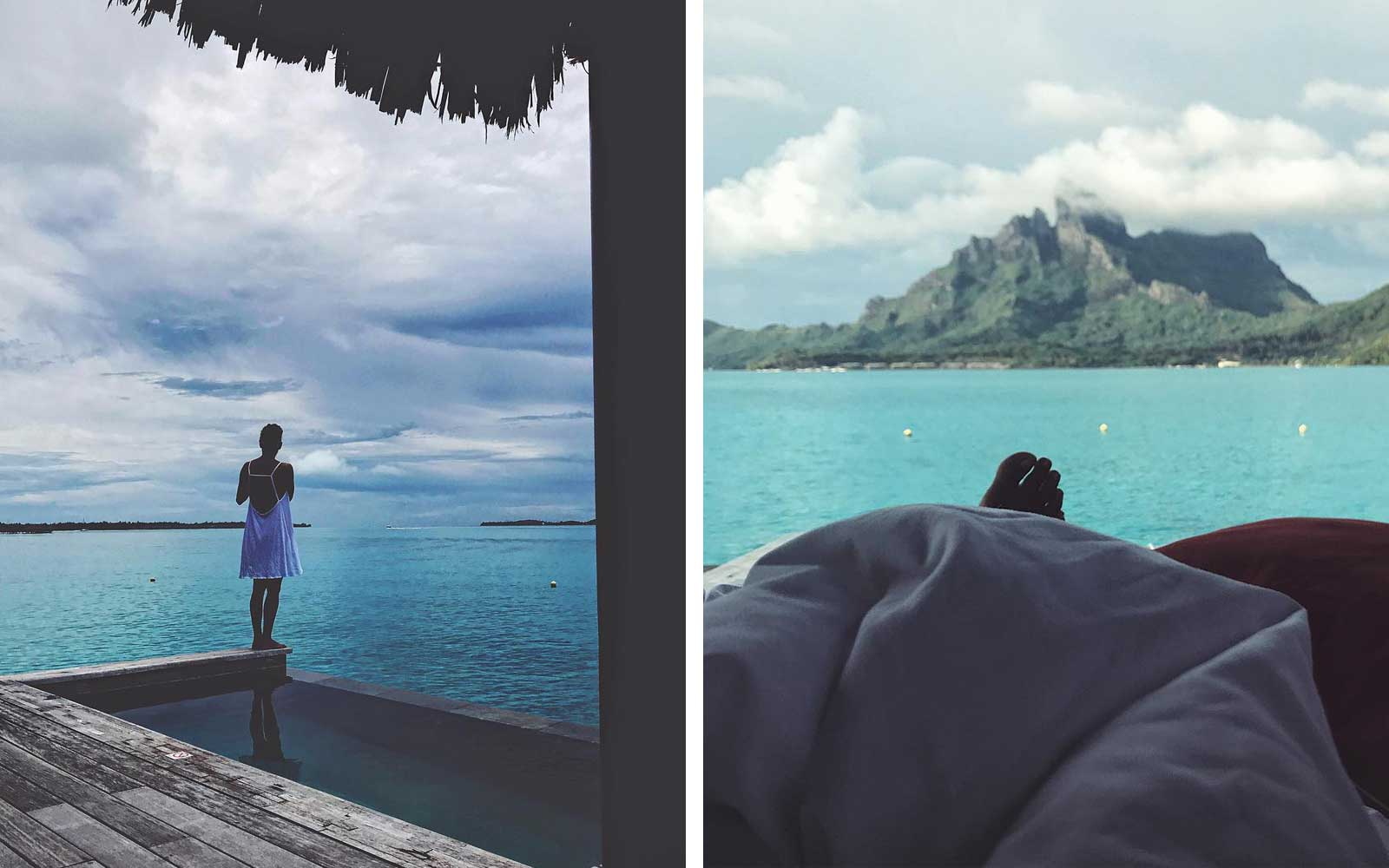 Halle Barry Instagram posts from Bora Bora