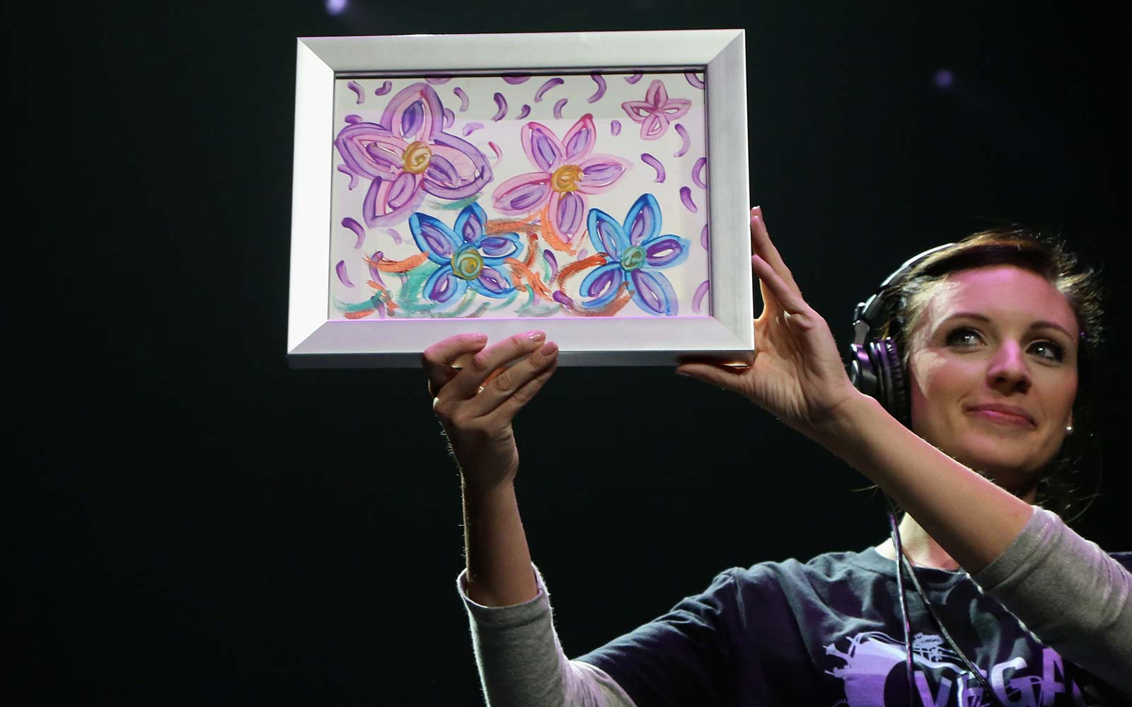 Britney Spears auction Las Vegas charity art color painting