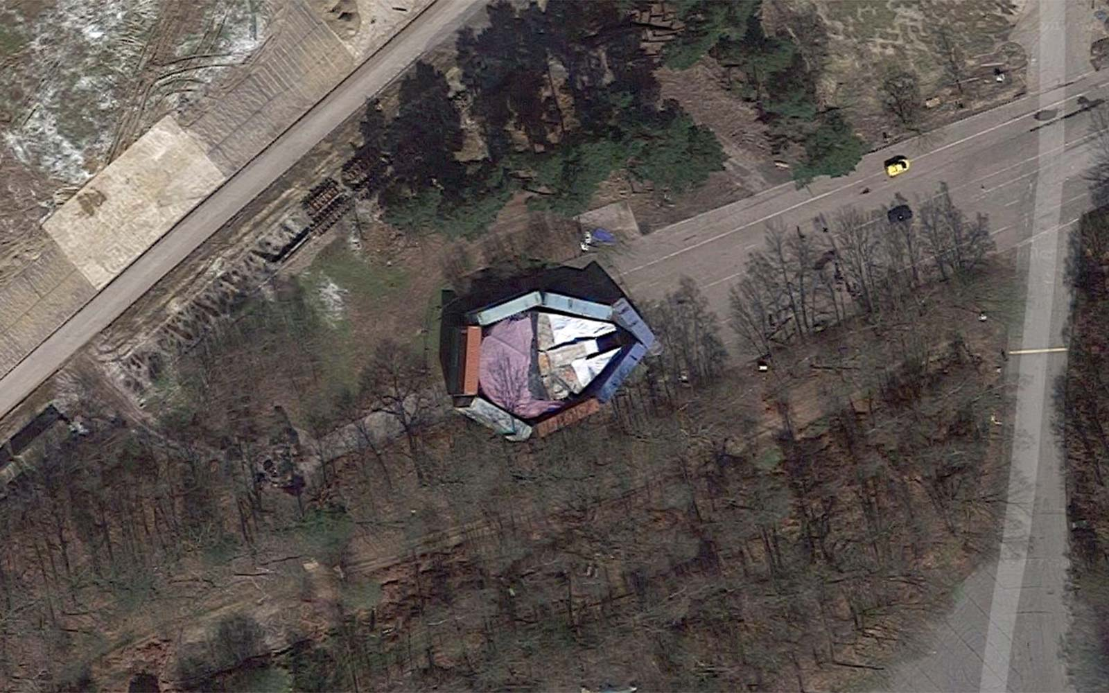 Disney Tried to Hide the Millennium Falcon Behind Shipping Containers but Someone Found It on Google Maps