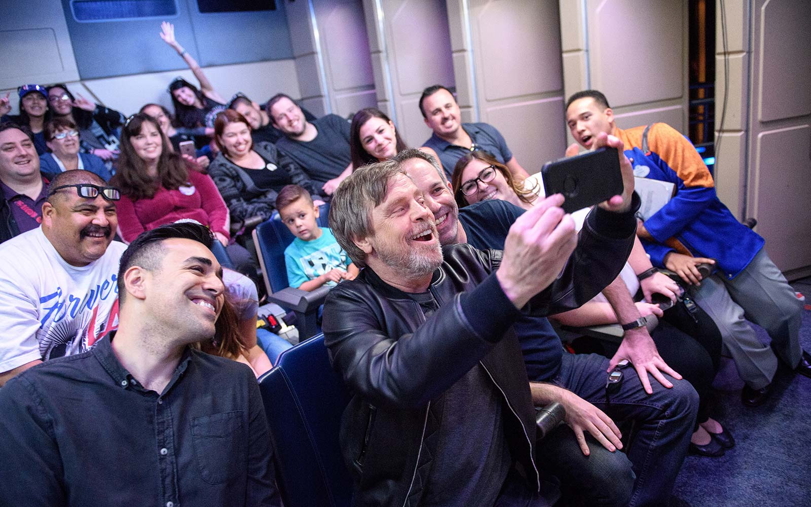 Mark Hamill Star Wars Star Tours Attraction Ride Disneyland Anaheim California