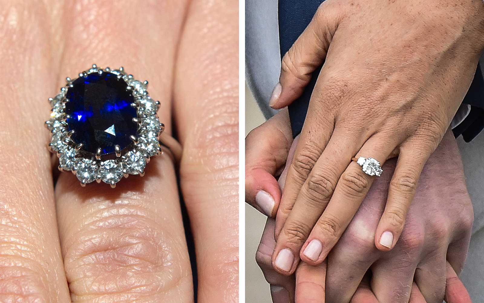 How Meghan Markles Engagement Ring Compares to Kate Middletons