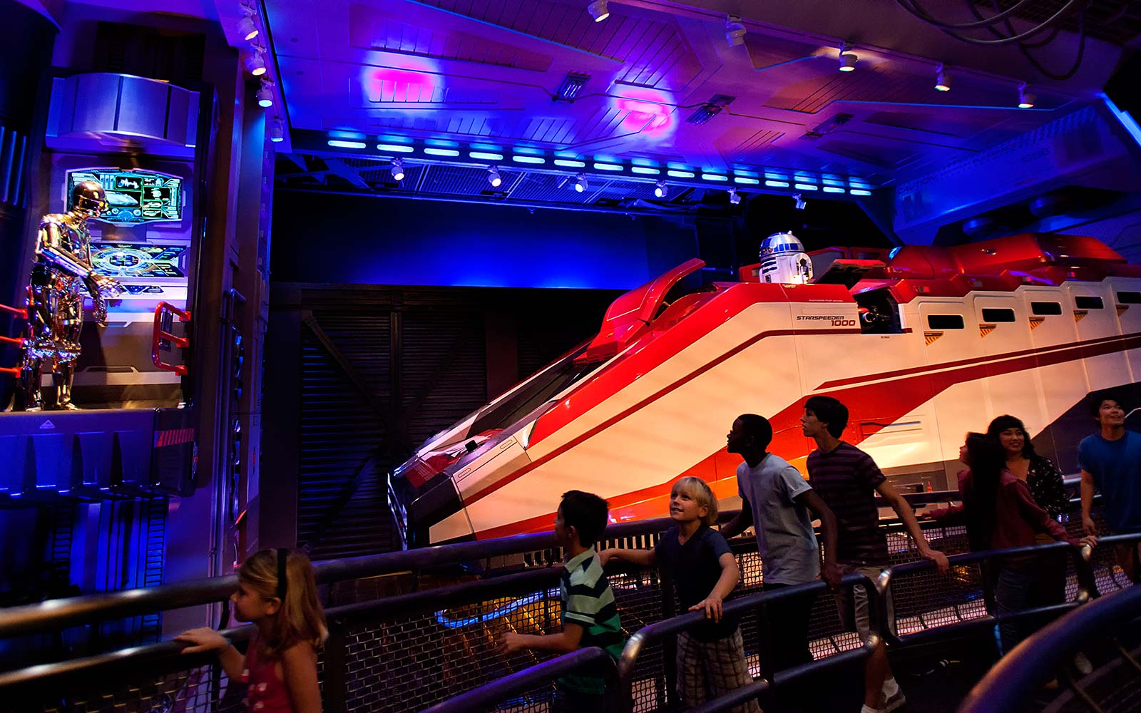 Star Wars Star Tours Attraction Ride Disneyland Anaheim California