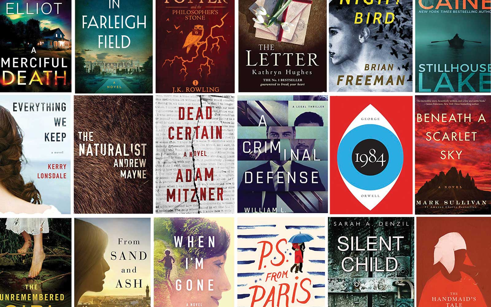 The 20 Most Popular Kindle E-books of 2017
