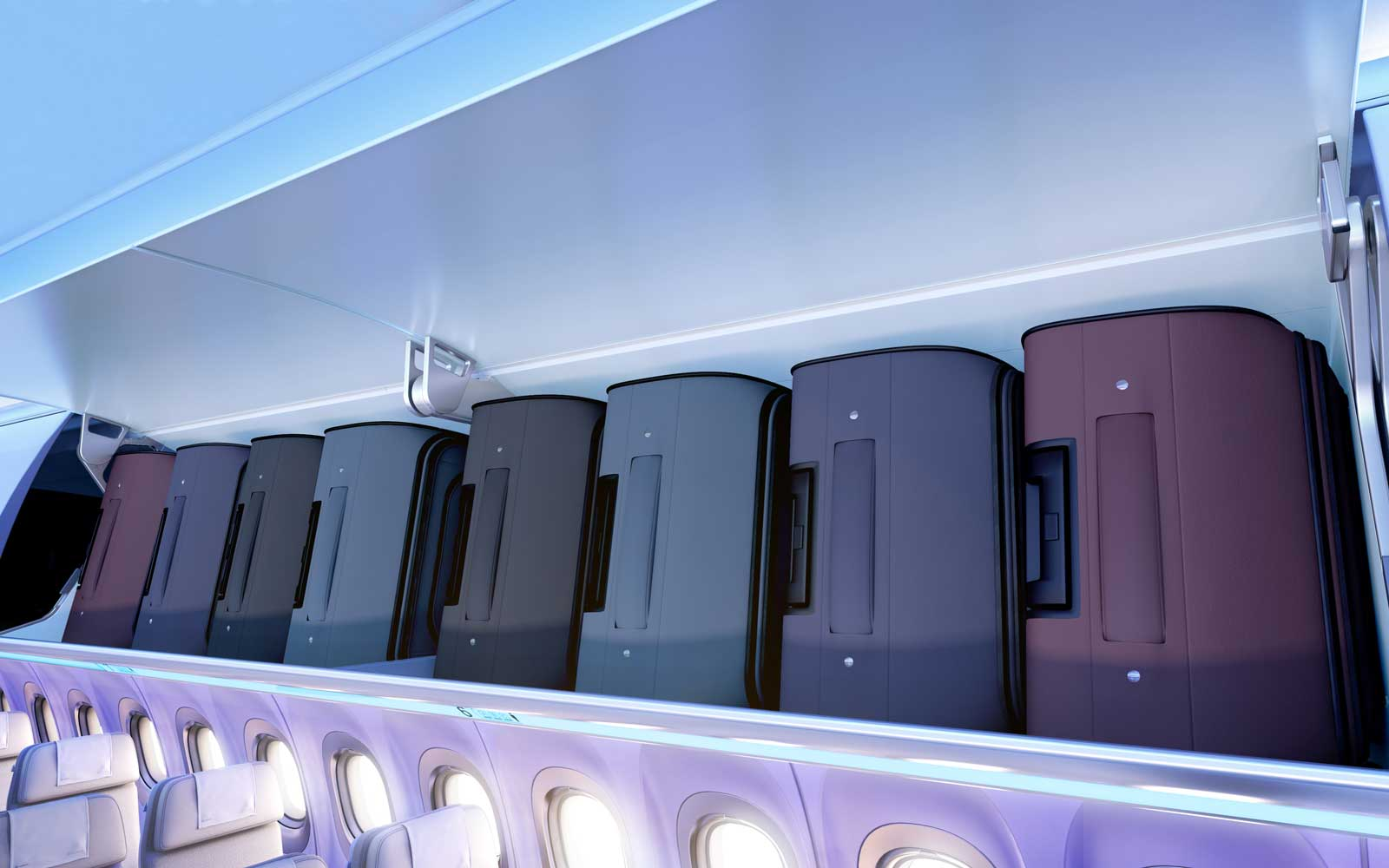 Airbus A321 Airspace bins