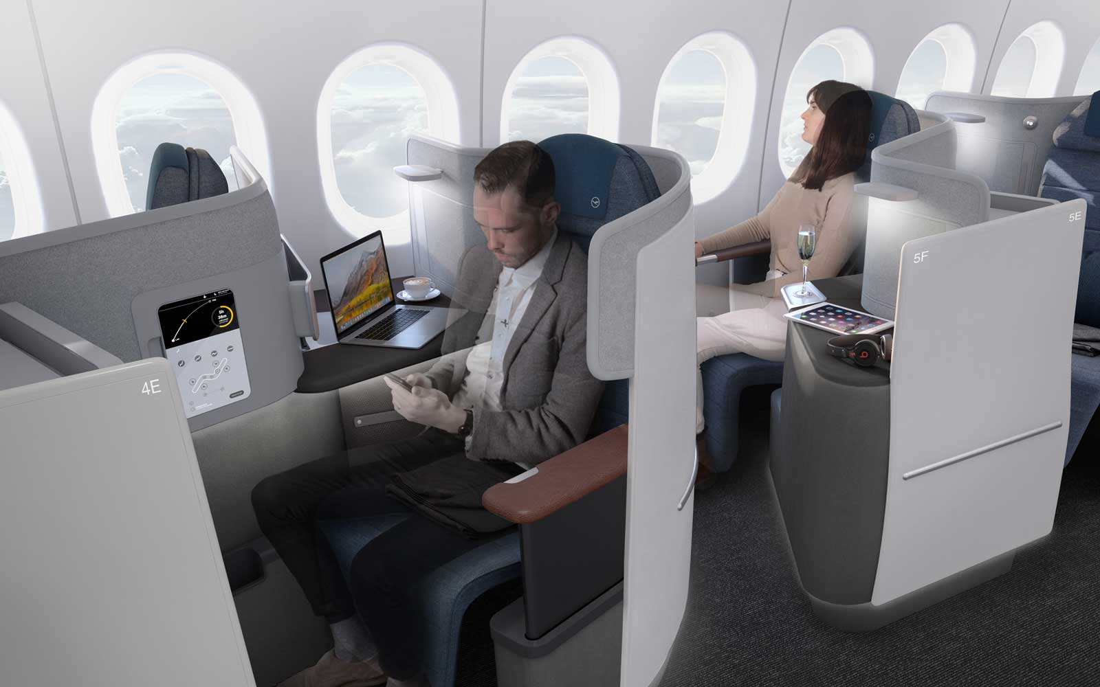 Lufthansa's New Business Class Seat Looks Like a Throne