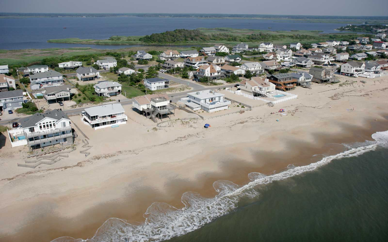Overhead view of Sandbridge Beach Virginia