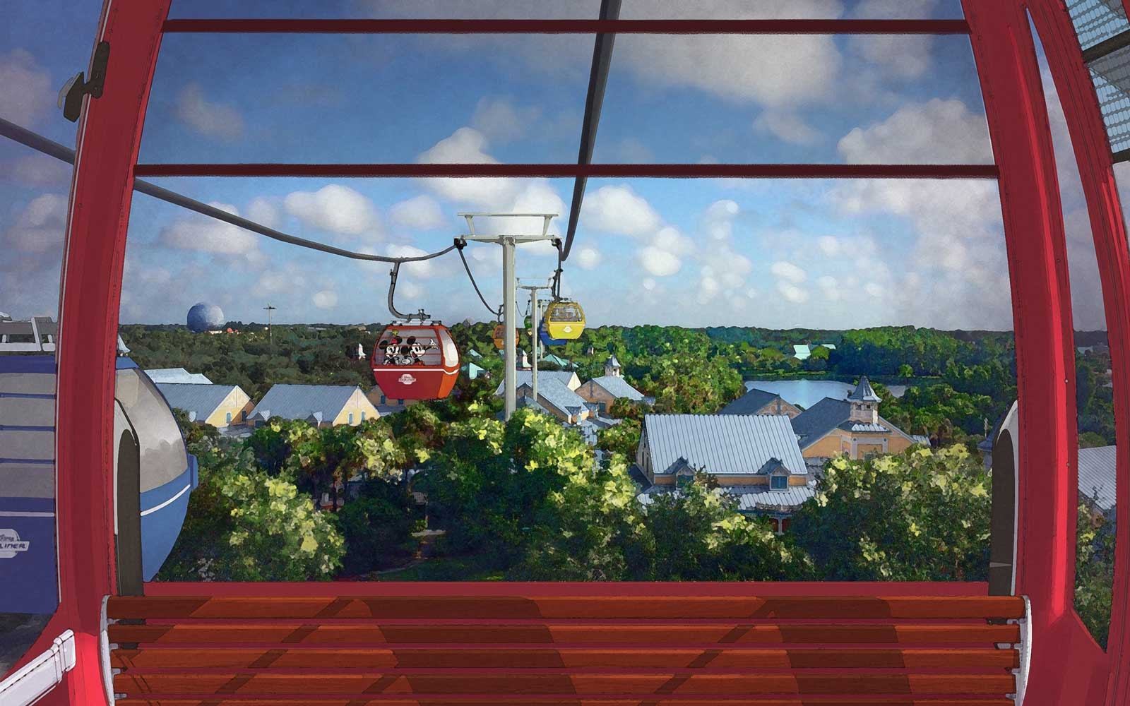 Disney Unveils New Images and Details About Sky-high Gondola Transportation System Coming to Parks and Resorts