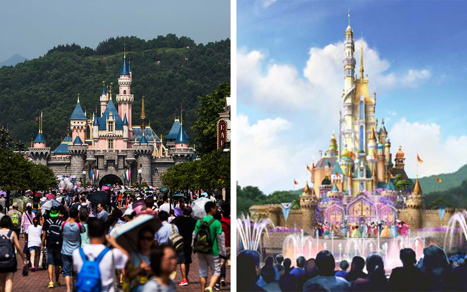 Hong Kong Disneyland Resort Theme Park Reconstruction Design Castle