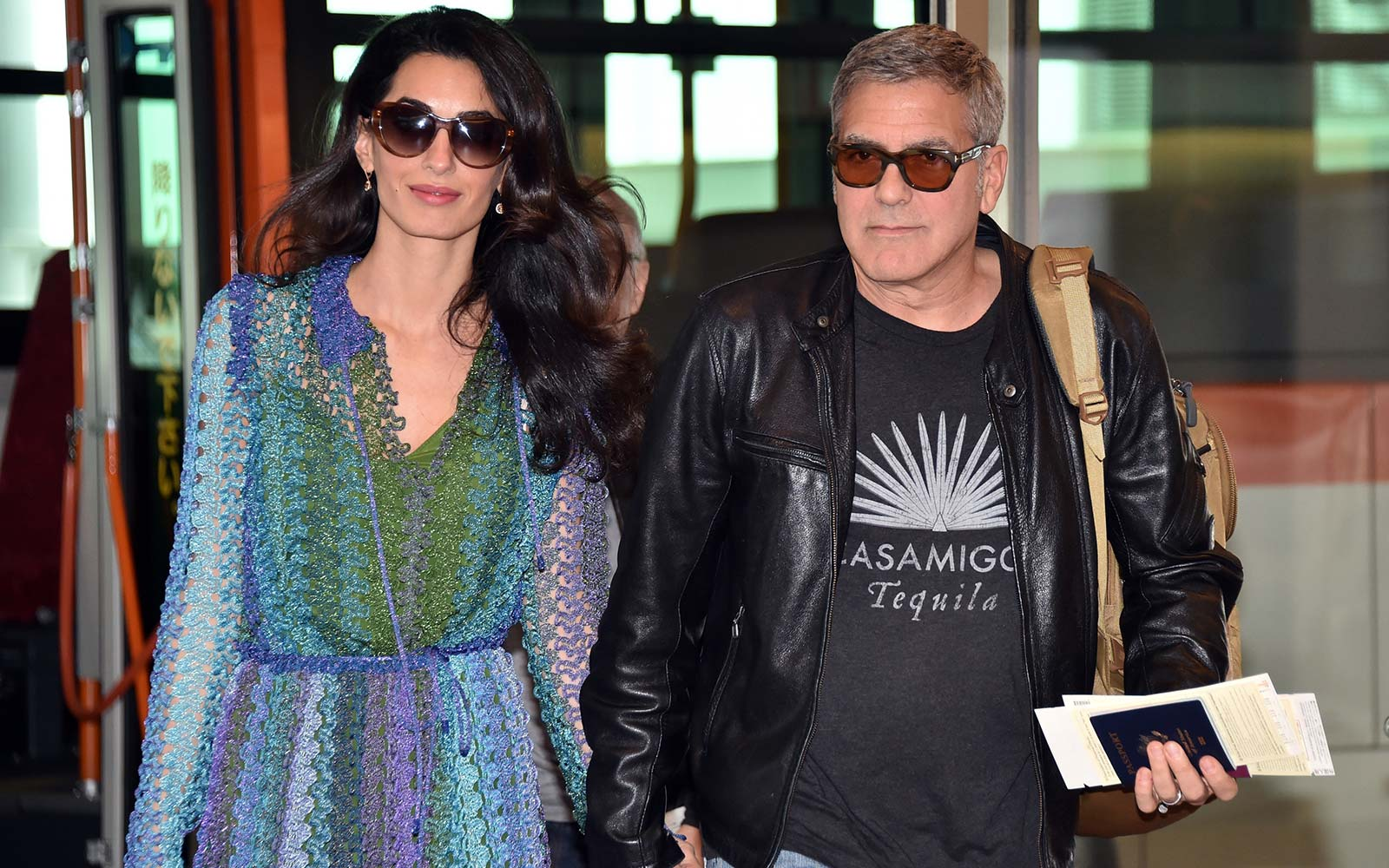 George Amal Clooney Airport Travel
