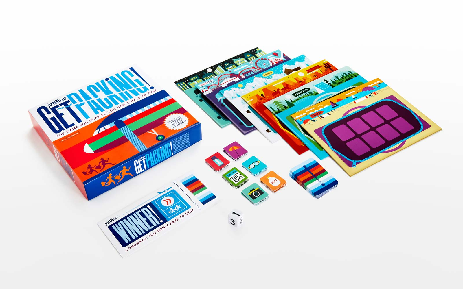 Get Packing JetBlue Board Game Holidays Flights