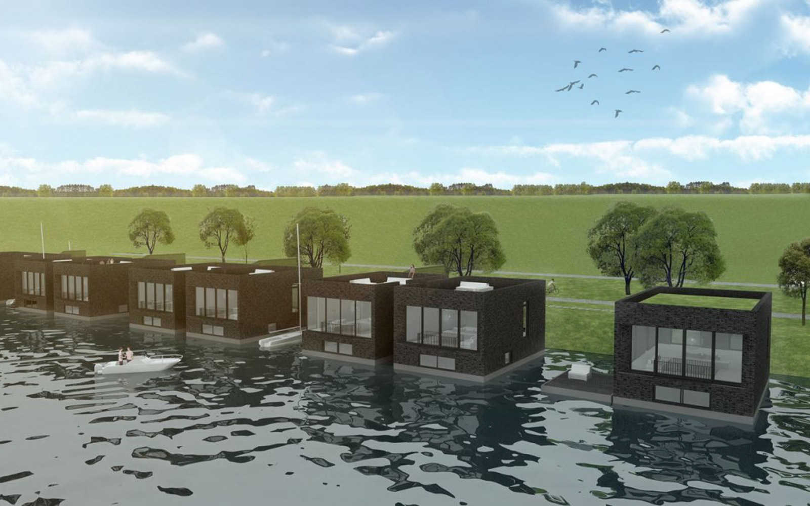 These Half-million-dollar Floating Villas Can Withstand Category 4 Hurricanes