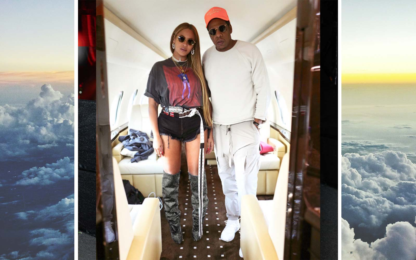 Jay-Z Beyonce Travel Private Jet Airplane