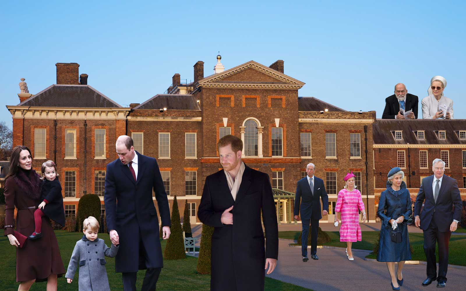 Royal Family members who live at Kensington Palace (photoshopped)