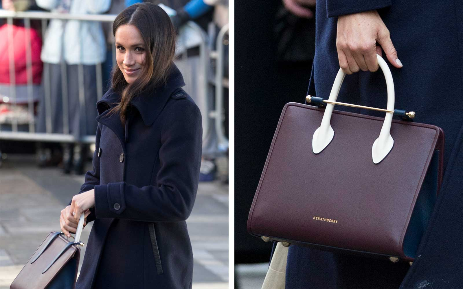 Meghan Markle carries Strathberry Handbag